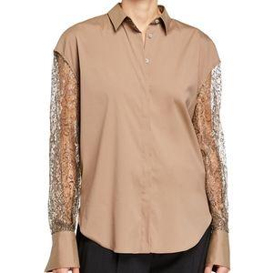 Brunello Cucinelli Metallic Button-Down Shirt.